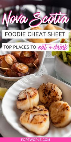 [East Coast Canada Road Trip] How To Plan Your Nova Scotia Holiday Around Food Spice up your Nova Scotia road trip with these 17 food experiences and discover the unique taste of this coastal region! East Coast Canada, Top Vacation Destinations, Canada Travel, Canada Canada, Visit Canada, Best Places To Eat, Seafood Dishes, Foodie Travel, So Little Time
