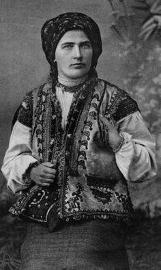 FolkCostumeEmbroidery: Kyptar, Hutsul Sheepskin Vest. Ukraina