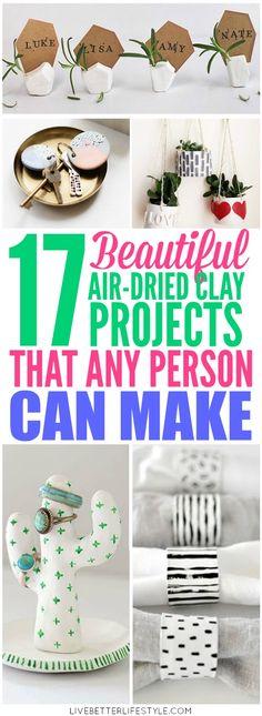 Newest Photos air dry Clay crafts Ideas Easy Air-dried Clay Projects Clay Projects For Kids, Clay Crafts For Kids, Crafts To Sell, Diy And Crafts, Craft Projects, Projects To Try, Air Dry Clay Crafts, Air Dry Clay Ideas For Kids, Air Dried Clay Projects
