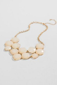 Bauer Statement Necklace In Ivory