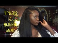 Darkskin Makeup for Beginners & Teenagers + Highlight and Contour - YouTube