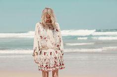 Zimmermann Sakura Embroidery Dress, Harlequin Tie Side Bikini
