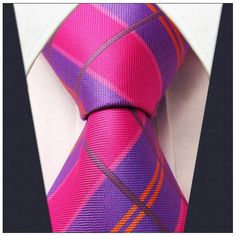 Pink / Purple Plaid Necktie