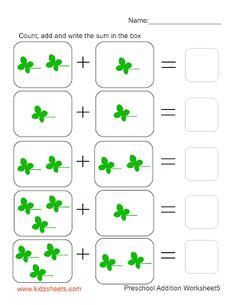 Preschool Addition (Sheet5)
