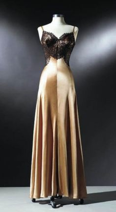The satin nightgown Rita Hayworth wore for the legendary Life Magazine pin-up shot in 1941.