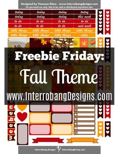 Free Printable Fall Theme Planner Stickers from Interrobang Design