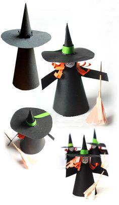 Halloween is just around the corner and you are still confused about the props to be used in the party? Have a look at the amazing DIY Halloween crafts you can make at home instantly. Theme Halloween, Halloween Arts And Crafts, Holidays Halloween, Halloween Diy, Halloween Makeup, Halloween Witches, Halloween Costumes, Halloween Recipe, Women Halloween