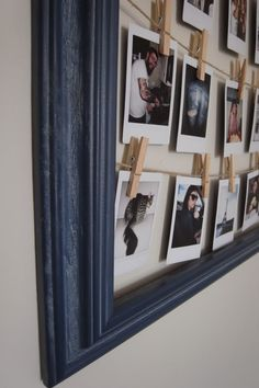 Love this to hang up pictures! DIY - frame for polaroids