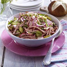 Fixer Leberkäs'-Salat Rezept   LECKER