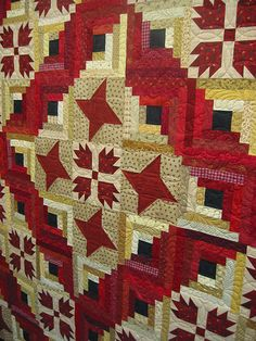 bear paw log cabin/custome/ traditional quilting | Krista Withers. | Flickr
