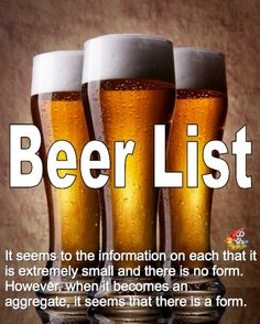 世界中のビールが集う-Beer List(ビールリスト)- ちょっとおじゃまな情報屋さん!