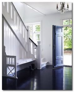 Entry way, I do love a black front door.