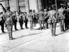 Photograph by a Second Lieutenant Milligan of the Royal Irish Rifles at the very north end of O'Connell Street on April The man covered by a white sheet on a stretcher is believed to be James Connolly. Ireland 1916, Dublin Ireland, Ireland Map, Irish Independence, Kilmainham Gaol, Easter Rising, Second Lieutenant, Irish Times, Erin Go Bragh