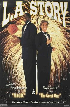 Magic Johnson and Wayne Gretzky