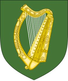 Province of Leinster, Chief City: Dublin, Ireland, Irish Name: Laighin Leinster Rugby, Ireland Rugby, Irish Names, Union Flags, St Francis, Harp, Coat Of Arms, Art History, Old Things
