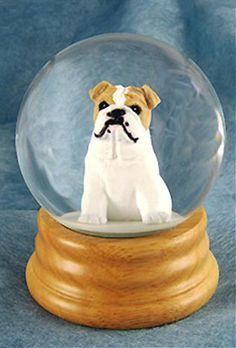 English Bulldog Dog Musical Water Snow Globe Tan You Ve Got A Friend Tune 99 99 At Dogloverstore Com Schneekugel