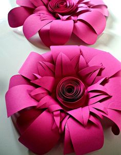 Sneak peek at decorations for Fan Retreat; how great are these handmade paper flowers?
