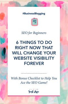 SEO for Beginners   6 Things to do right now that will change your website visibility forever. These are practical steps to do to soar your website traffic. I did them and it worked for me.