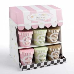 Baby Aspen brings you the baby gift of choice for those with extraordinary taste. As unique as it is adorable, this two-piece bedtime gift set has everything, including the cherry on top! The charming, retro ice cream-parlor display arrives with an assort $248.40
