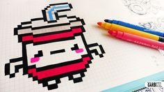 Handmade Pixel Art - How To Draw Kawaii Soda #pixelart