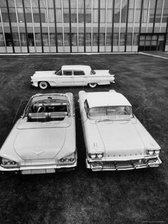 Andreas Feininger, Chevrolet Impala and Lincoln Premiere All New 1958
