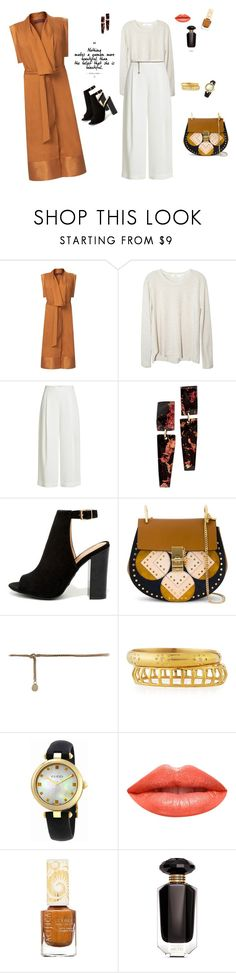 """""""Mustard coat"""" by mariagraziatrotta ❤ liked on Polyvore featuring WtR, Wilt, Diane Von Furstenberg, Bamboo, Chloé, Ashley Pittman, Gucci, Ardency Inn, Pacifica and Victoria's Secret"""