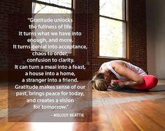 30 day yoga challenge & gratitude