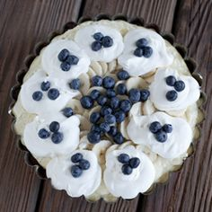 Banana Blueberry Cream Pie with the Perfect Buttery Cookie Crust
