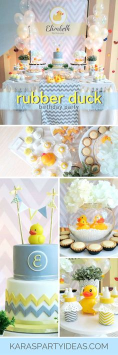 Rubber Duck Birthday Party via Kara's Party Ideas