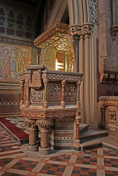 All Saints Anglo-Catholic Church pulpit, London, England by Lawrence OP
