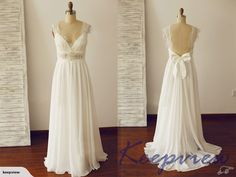 Backless Wedding Dress Bridal Gown Cap Sleeves | Trade Me
