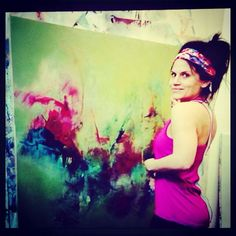 Brittany Lee Howard In her Art Studio in Baton Rouge