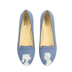 Love is in the air this month, but what about our feet? I just adore these Chiara Ferragni denim flats ($211) that depict a man and woman eating pasta as any romantic couple would, by sharing each spaghetti noodle. — Kate Schweitzer, editor
