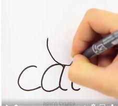 Une vidéo amusante pour apprendre facilement à dessiner les animaux à partir de leur nom en anglais. Learn English, Tattoos, Cycle 3, Easy, Scrap, Internet, Couture, Orange, Learning
