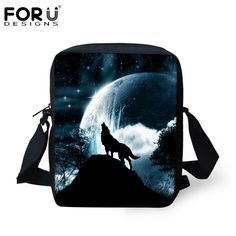 04fd614dfb Moon Light Tiger Wolf Printing Messenger Bags for Men Women Hot Brand  Designer Small Cross Body Bags for Ladies Mens Travel Bags