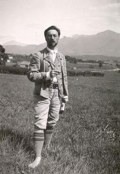 "Wassily Kandinsky - Photos - ""in Murnau"", 1909. A man of socks. I like that."