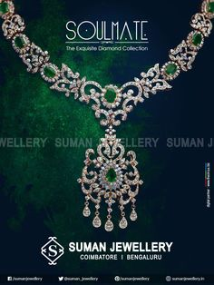 Soulmate- Exclusive #diamond collection! Go Green, Go White, Go Shine! #suman_jewellery #fashion #sparkle #pure_love #beauty #collection