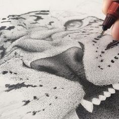 Incredible stippling Art Typography & Illustrations by Xavier Casalta