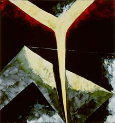 Julian Schnabel - Abstract Painting (Rodchenko)  Art Experience NYC  www.artexperiencenyc.com