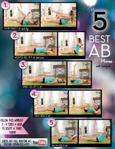 The 5 Best Ab Moves by @Blogilates