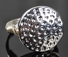 Wire Wrapped Ring Sterling Silver with Textured by Twist21trinkets, $18.00
