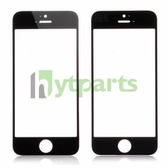 Black cell phone replacement parts screen glass lens for iPhone 5s 5c and 5.