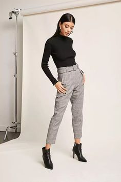 Product Name:Glen Plaid Ankle Pants, Category:bottoms, Price:29.9