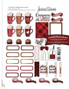 Cinnamon Delight Planner Stickers | tawanasimone.com