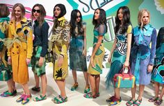 Backstage at the Burberry Prorsum Womenswear Spring Summer 2015 Show