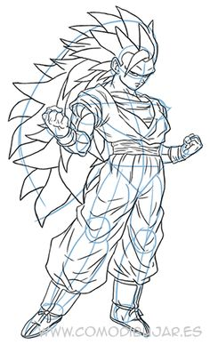 How to Draw Goku Easy  Dragonball Z  GT  Pinterest  Goku