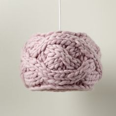 The Land of Nod | Kids Lighting: Knit Pink Cardigan Pendant Ceiling Light in Ceiling Fixtures