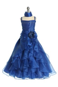 bridesmaid dresses in royal blue flowers