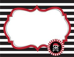 Food labels for a Pirate party