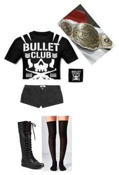 """""""Carmen Becoming The First Ever Female IWGP Intercontinental Champion"""" by lsd-and-halloweencandy ❤ liked on Polyvore featuring Lazy Oaf, Out From Under, Burberry and NIKE"""